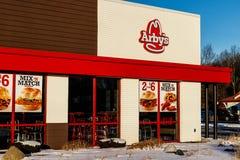 Marion - Circa Januari 2018: Plaats van het Arby` s de Kleinhandels Snelle Voedsel Arby ` s stelt meer dan 3.300 restaurants in w stock foto's