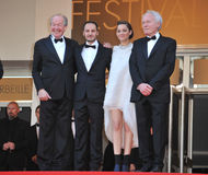 Marion Cotillard & Fabrizio Rongione & Jean-Pierre Dardenne & Lu Royalty Free Stock Photos