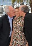 Marion Cotillard & Jean-Pierre Dardenne & Luc Dardenne Stock Images