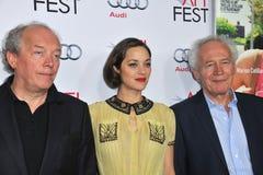 Marion Cotillard & Jean-Pierre Dardenne & Luc Dardenne Royalty Free Stock Photos