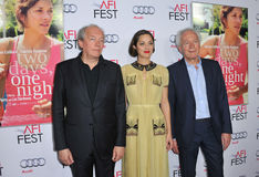 Marion Cotillard & Jean-Pierre Dardenne & Luc Dardenne Royalty Free Stock Image