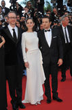 Marion Cotillard & Jeremy Renner & James Gray Royalty Free Stock Photo
