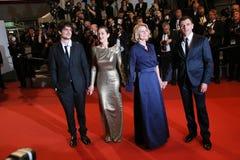Marion Cotillard, Louis Garrel, Nicole Garcia Royalty Free Stock Photo