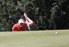 Marion Ricordeau bij de Fourqueux-Open golfdames Stock Foto