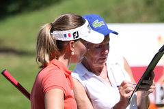 Marion Ricordeau at the Fourqueux golf Ladies Open. FOURQUEUX  GOLF COURSE, FRANCE –JUNE  07 ,  2013 Royalty Free Stock Image
