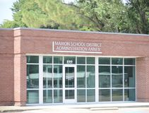 Marion School District Annex Arkansas av Crittenden County royaltyfri bild