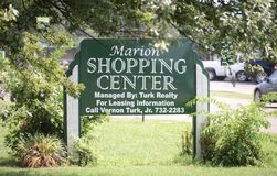 Marion Shopping Center, West-Memphis, Arkansas Royalty-vrije Stock Foto's