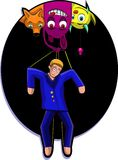 Marionet(106). A illustration of a marionette, controlled by monsters. Can be recolored or scaled without problems and quality loss stock illustration