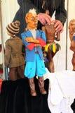 Marionet bij de markt stock foto's