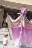 Marionet en het Meisje Stock Fotografie