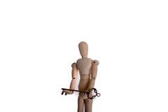 Marionet en sleutel Stock Afbeeldingen