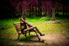 Marionet in melancholie Royalty-vrije Stock Afbeelding