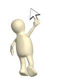 Marionet met een curseur Stock Fotografie
