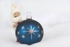 Marionet met Kerstmissnuisterij Stock Foto
