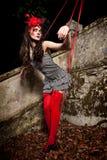Marionet op een koord Royalty-vrije Stock Fotografie