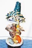 Marionet van zeeschelpen wordt gemaakt die royalty-vrije stock foto