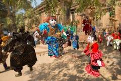 Marioneta birmana de la secuencia Foto de archivo libre de regalías