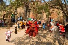 Marioneta birmana de la secuencia Fotografía de archivo libre de regalías