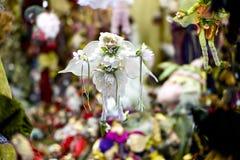 Marioneta blanca colgante Fotografía de archivo libre de regalías