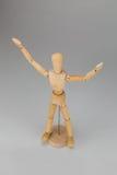 Marioneta con las manos para arriba Imagen de archivo