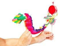 Marioneta de papel del dragón Fotografía de archivo libre de regalías