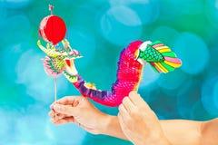 Marioneta de papel del dragón Imagen de archivo libre de regalías
