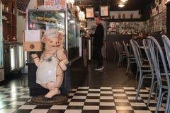 Marioneta del cerdo del cocinero Foto de archivo