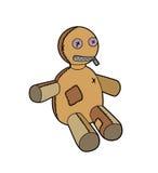 Marioneta del trapo de la historieta Imagen de archivo libre de regalías