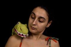 Marioneta en hombro Fotos de archivo