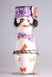 Marioneta hecha de potholders Imágenes de archivo libres de regalías