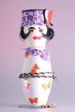 Marioneta hecha de potholders Fotos de archivo libres de regalías
