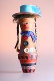 Marioneta hecha de potholders Imagen de archivo