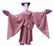 Marioneta púrpura Imágenes de archivo libres de regalías