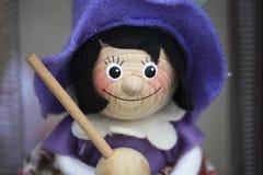 Marioneta para la venta, Budapest Hungría de la bruja Imagenes de archivo