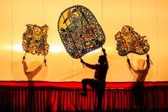 Marioneta tailandesa de la sombra Imagen de archivo libre de regalías