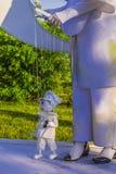 Marioneta y amo Fotos de archivo libres de regalías