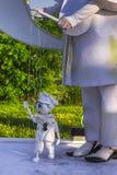 Marioneta y amo Imágenes de archivo libres de regalías