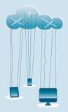 Marionetas computacionales de la nube Fotografía de archivo libre de regalías
