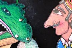 Marionetas de la sombra de Karagiozis fotos de archivo libres de regalías