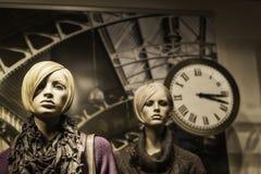 Marionetas de la ventana de exhibición Imagen de archivo libre de regalías