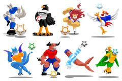 Marionetas de los iconos del fútbol-Ilustración-vector fotos de archivo libres de regalías