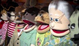 ¡Marionetas de mano para la venta! Fotografía de archivo