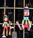 Marionetas de Pinocchio Fotografía de archivo libre de regalías