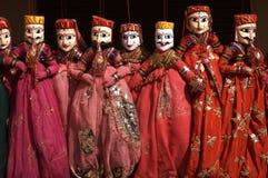 Marionetas de Rajasthani para la venta Imágenes de archivo libres de regalías