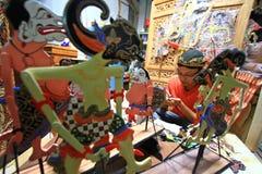 Marionetas de Wayang del arte Foto de archivo