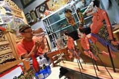 Marionetas de Wayang del arte Imágenes de archivo libres de regalías