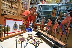 Marionetas de Wayang del arte Imagenes de archivo