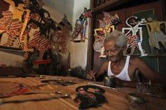 Marionetas de Wayang del papel Imágenes de archivo libres de regalías