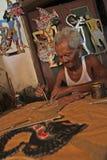 Marionetas de Wayang del papel Fotos de archivo libres de regalías