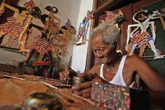 Marionetas de Wayang del papel Fotos de archivo